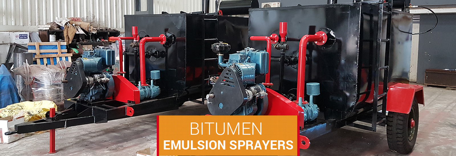 road equipment ,Bitumen Emulsion sprayers supplier in Maharashtra